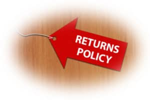 online return policy