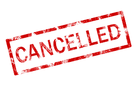 Cancelled products