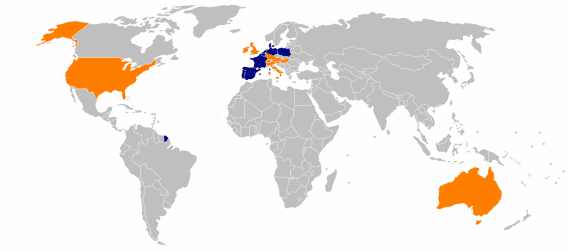 ALDI locations worldwide