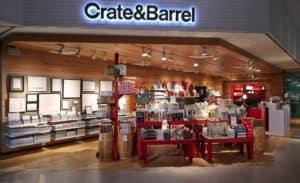 Crate and Barrel store front