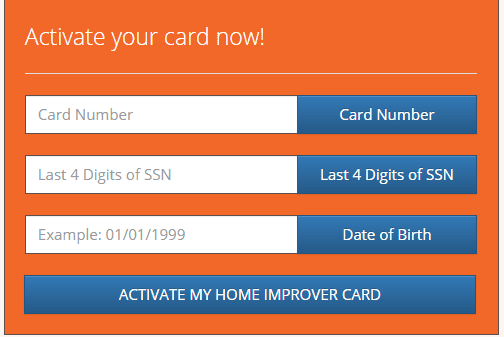 Activate your Home Depot Credit Card