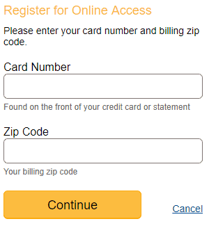 Amazon credit card new user