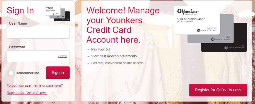 Younkers Credit Card Login
