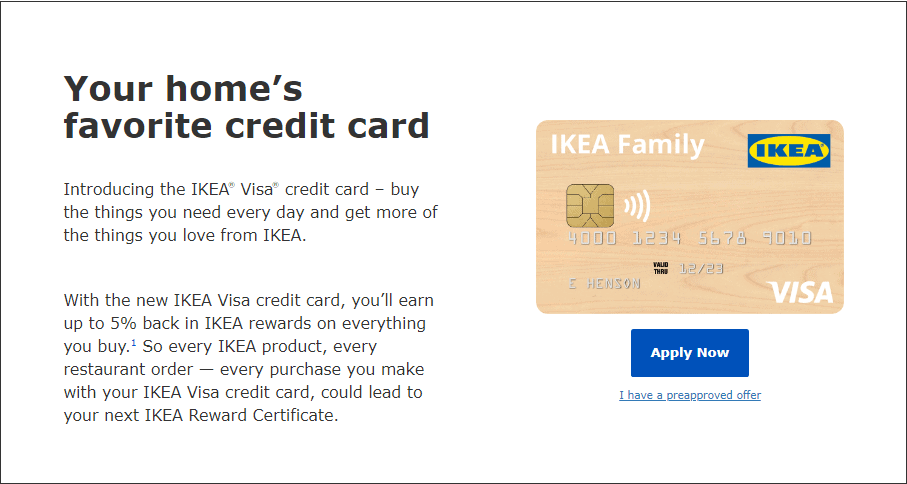 IKEA Visa Credit Card Apply Now