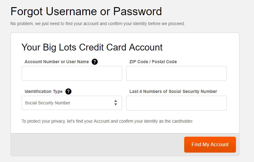 forgot username