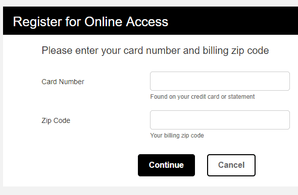 Register to activate BR card