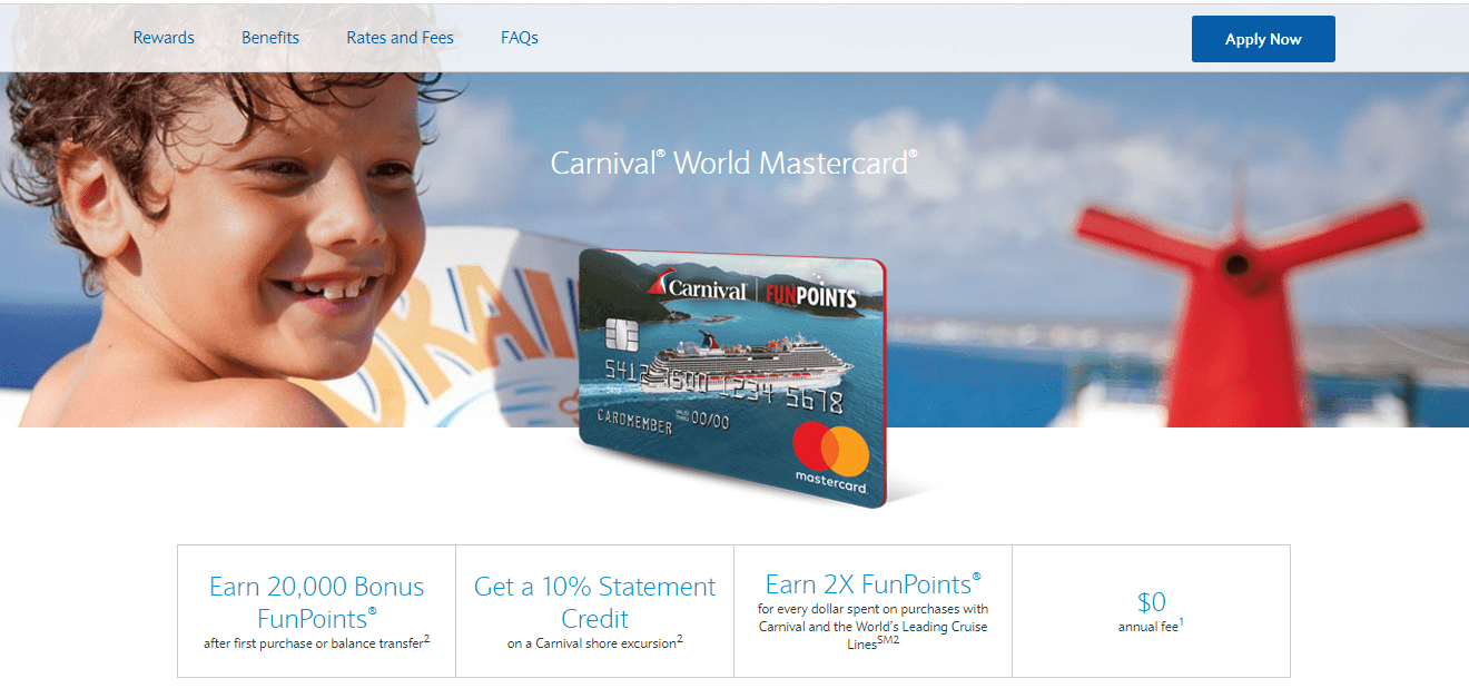Apply for Carnival Credit Card