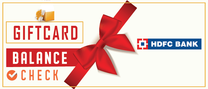 HDFC gift card balance check | Learn to check